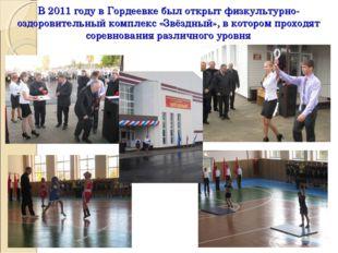 В 2011 году в Гордеевке был открыт физкультурно-оздоровительный комплекс «Звё