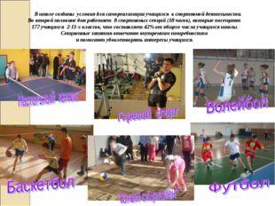 В школе созданы условия для самореализации учащихся в спортивной деятельност