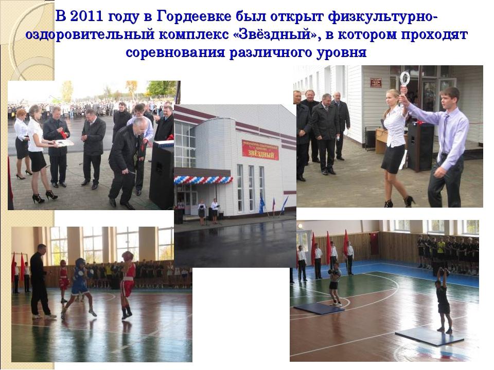 В 2011 году в Гордеевке был открыт физкультурно-оздоровительный комплекс «Звё...