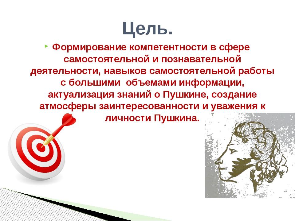Формирование компетентности в сфере самостоятельной и познавательной деятельн...