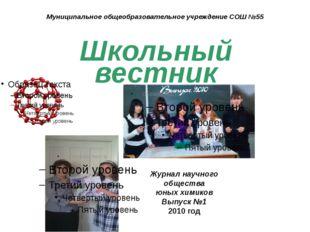 Муниципальное общеобразовательное учреждение СОШ №55 Школьный вестник Журнал