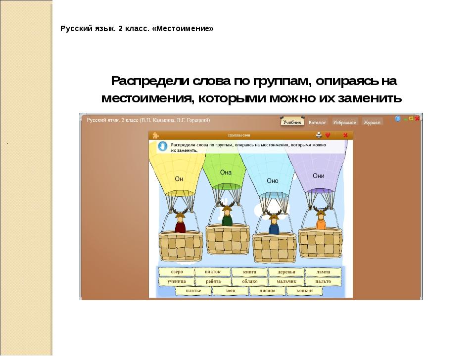 Русский язык. 2 класс. «Местоимение» .