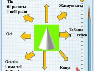 Кластер Тік бұрышты үшбұрыш Осі биіктігі Жасаушысы Табаны дөңгелек Осьтік қим
