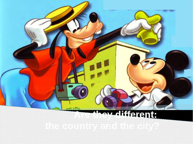 Are they different: the country and the city?