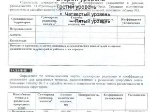 Практическая работа №3 «Сравнение климата двух территорий Казахстана»