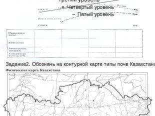 Практическое задание на тему: «Почвы Казахстана» Задание 1. Заполни таблицу,