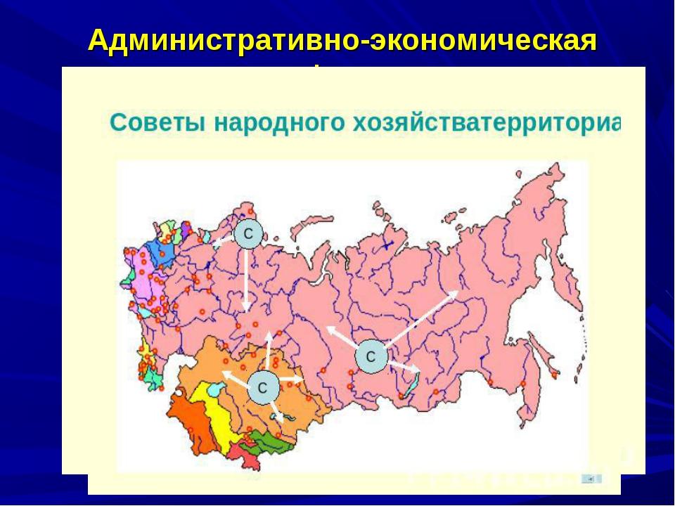 Административно-экономическая реформа 1957 г. – замена централизованного отр...