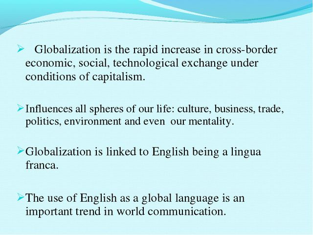 Globalization is the rapid increase in cross-border economic, social, techno...