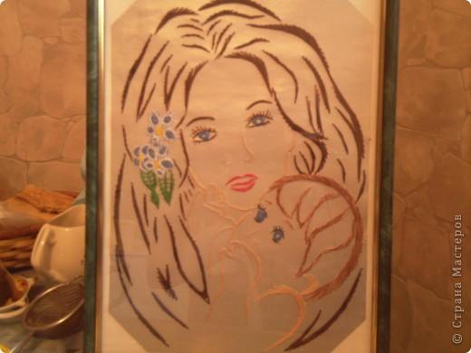 Поделка ко дню матери портрет
