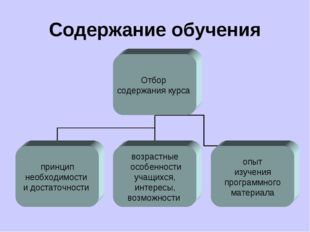 Содержание обучения