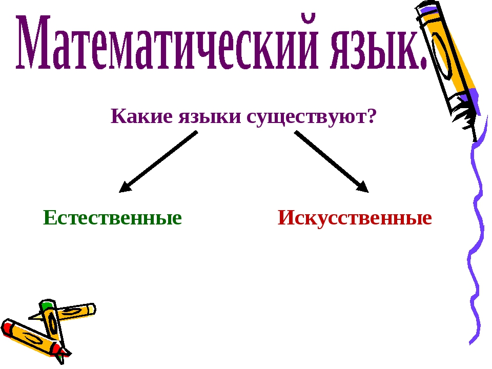 Какие языки существуют? Естественные Искусственные