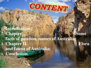 Introduction; Chapter Ι. Some facts of position, names of Australia; Chapter