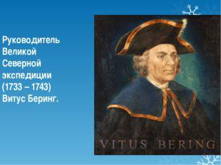 Руководитель Великой Северной экспедиции (1733 – 1743) Витус Беринг.