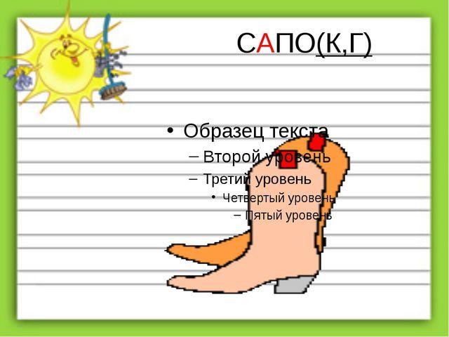 САПО(К,Г)