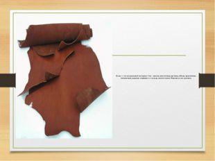 Кожа — это натуральный материал. Она - мягкая, пластичная, прочная, гибкая, п