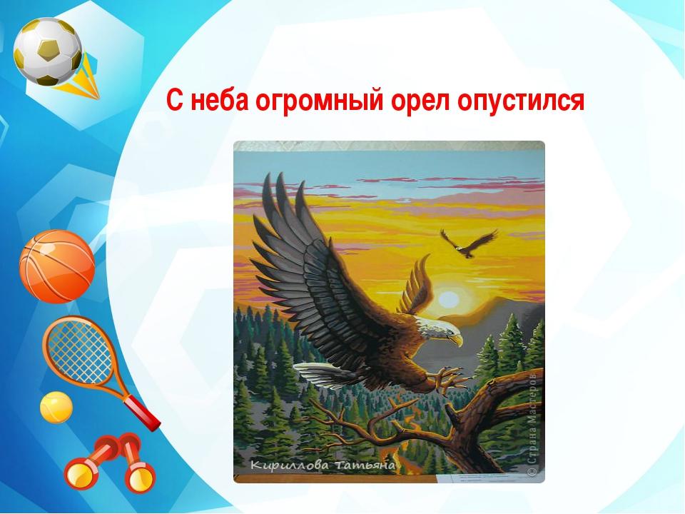 С неба огромный орел опустился