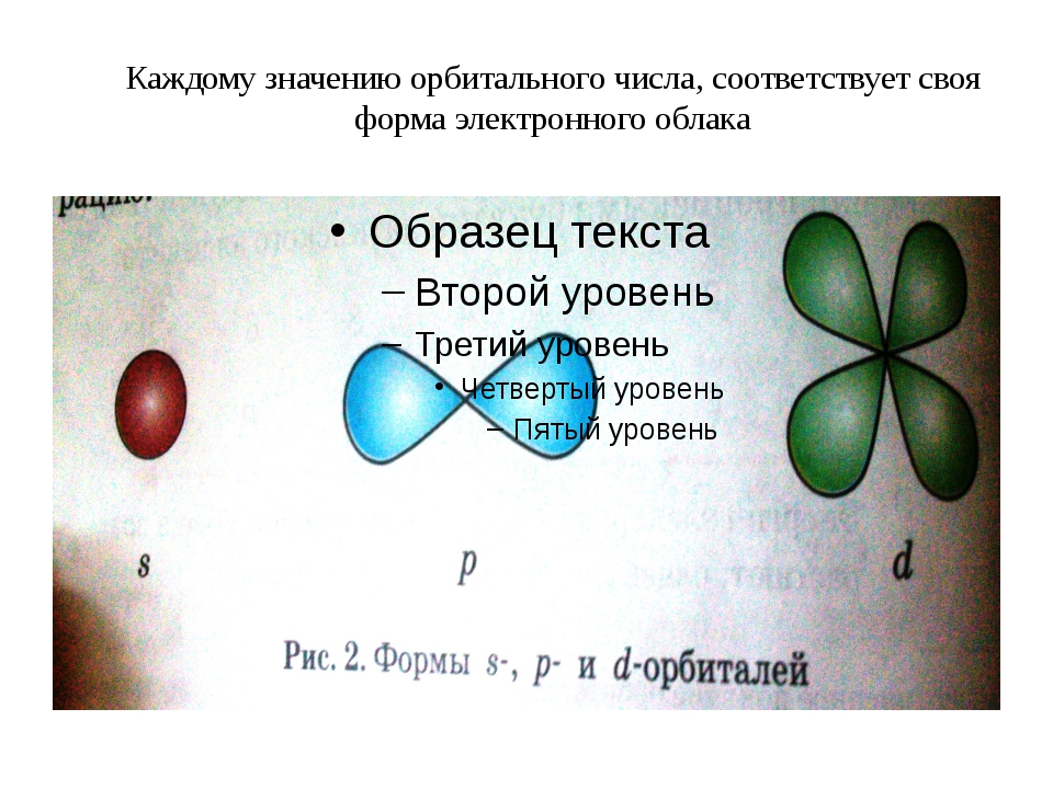 Каждому значению орбитального числа, соответствует своя форма электронного об...