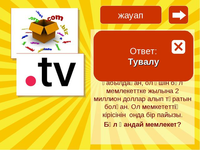 Домен .tv, телеарналар сайты жалпы .com .org. секілді домен емес, ол мұқитта...