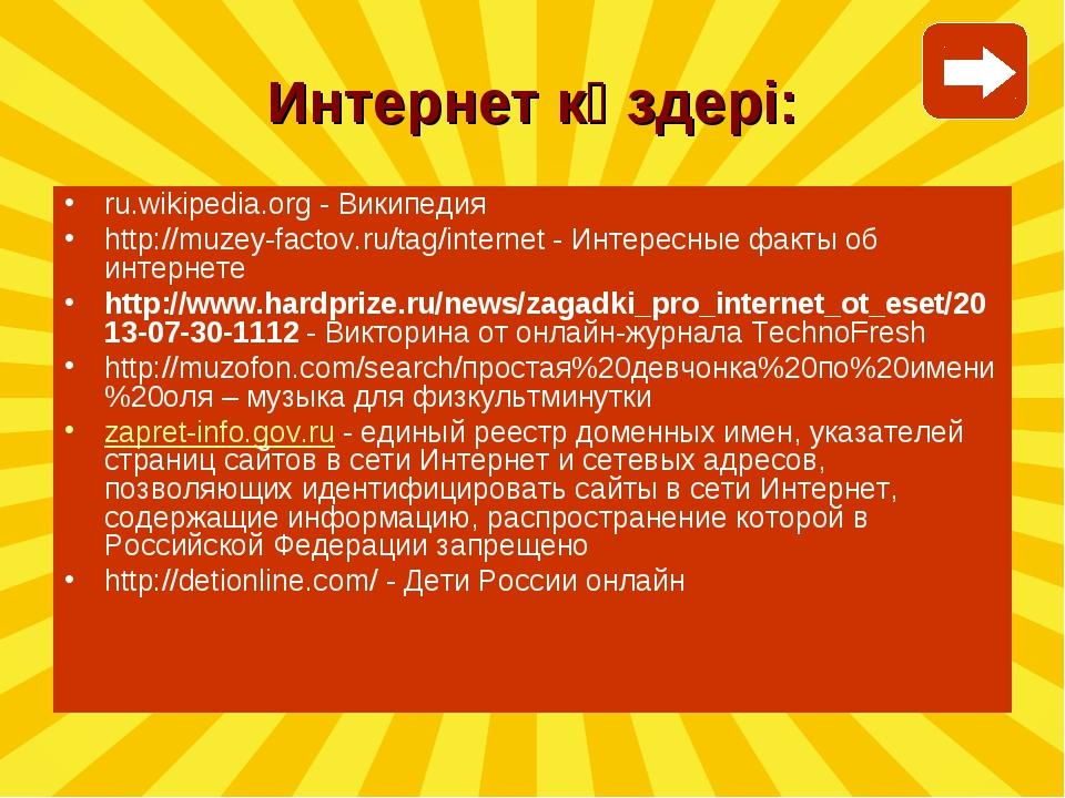 ru.wikipedia.org - Википедия http://muzey-factov.ru/tag/internet - Интересные...