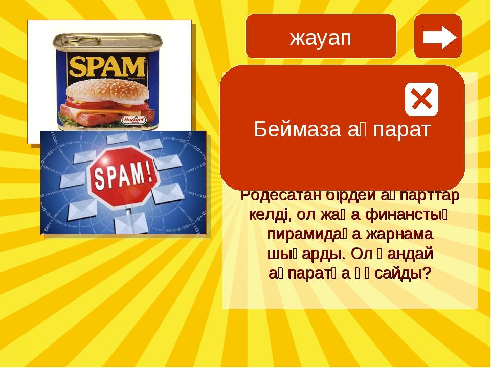 SPAM сөзі 1936 жылы шықты. американдық компания «SPiced hAM» консервлер шыға...