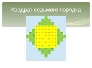 Квадрат седьмого порядка        1             8  2