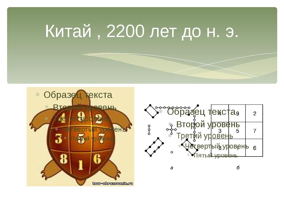 Китай , 2200 лет до н. э.