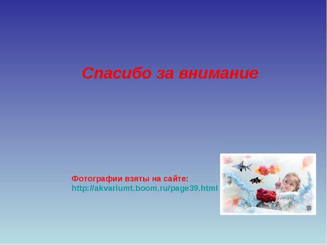 Фотографии взяты на сайте: http://akvariumt.boom.ru/page39.html Спасибо за вн...