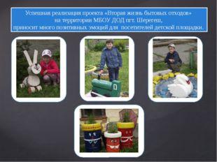 Успешная реализация проекта «Вторая жизнь бытовых отходов» на территории МБОУ