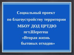 Социальный проект по благоустройству территории МБОУ ДОД ЦРТДЮ пгт.Шерегеш «
