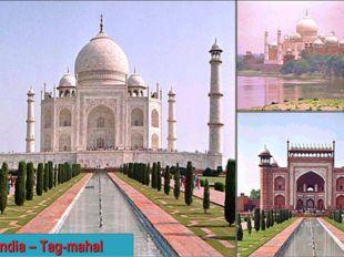 India – Tag-mahal