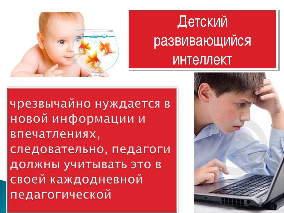 Детский развивающийся интеллект