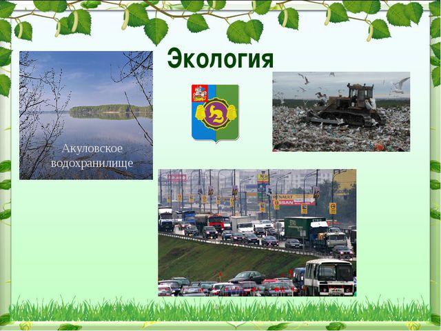 Экология Акуловское водохранилище