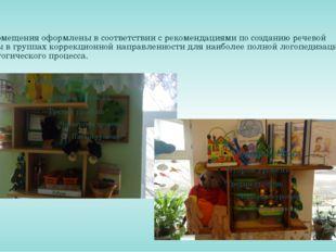 Помещения оформлены в соответствии с рекомендациями по созданию речевой сред