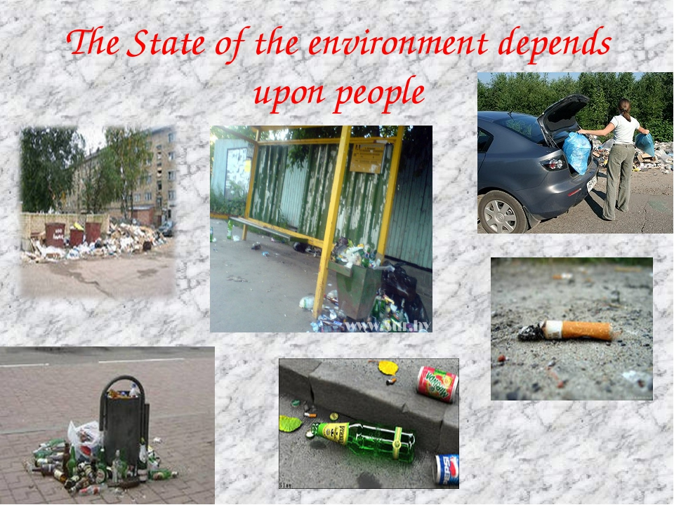 The State of the environment depends upon people