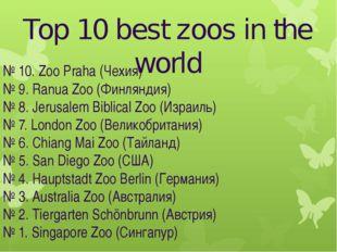 Top 10 best zoos in the world № 10. Zoo Praha (Чехия) № 9. Ranua Zoo (Финлянд