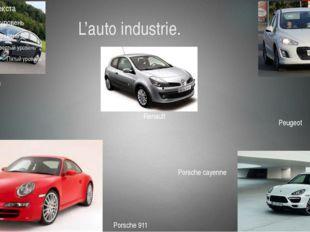 L'auto industrie. Сitroen Renault Peugeot Porsche 911 Porsche cayenne