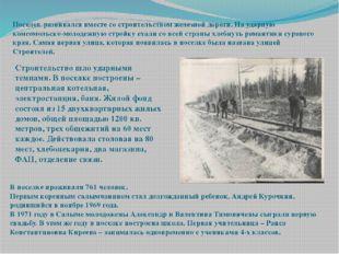 . Поселок развивался вместе со строительством железной дороги. На ударную ко