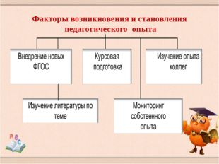 Факторы возникновения и становления педагогического опыта