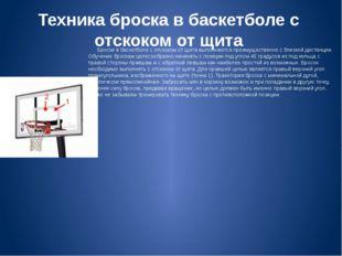 Техника броска в баскетболе с отскоком от щита Броски в баскетболе с отскоком