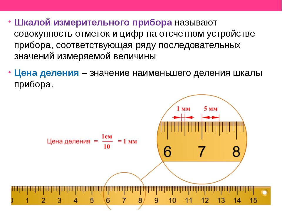 Шкалой измерительного прибора называют совокупность отметок и цифр на отсчетн...