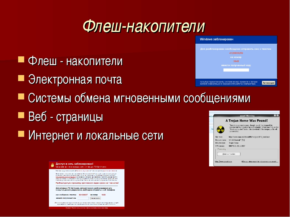 Флеш-накопители Флеш - накопители Электронная почта Системы обмена мгновенным...