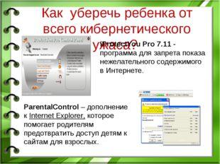 Как уберечь ребенка от всего кибернетического ужаса? iProtectYou Pro 7.11 - п