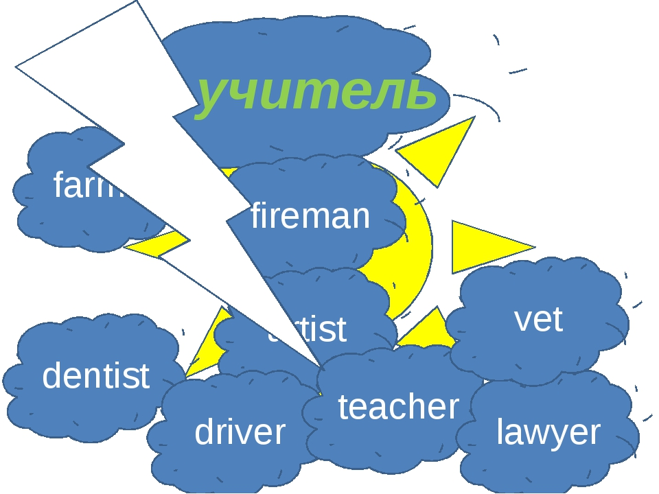 учитель farmer fireman artist dentist driver teacher lawyer vet