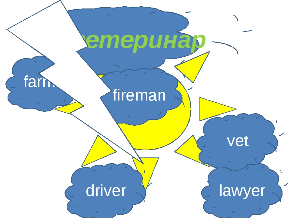 ветеринар farmer fireman driver lawyer vet