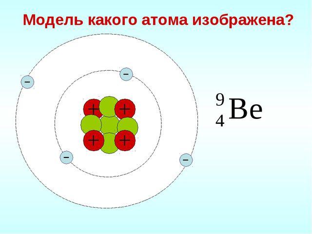 Модель какого атома изображена?