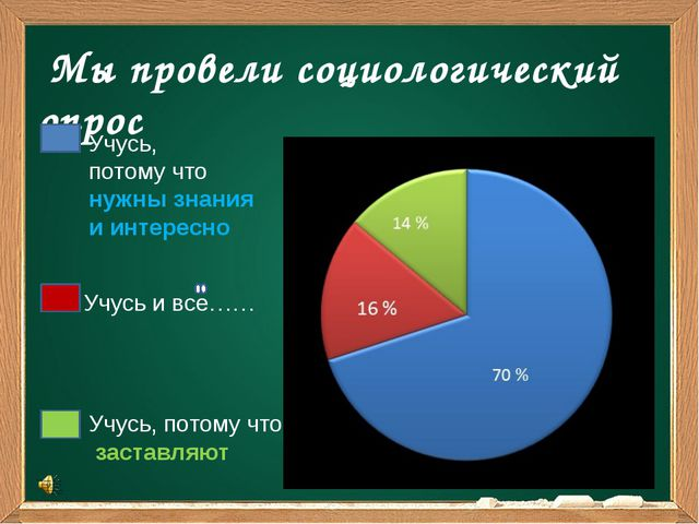 Мы провели социологический опрос Учусь, потому что нужны знания и интересно...