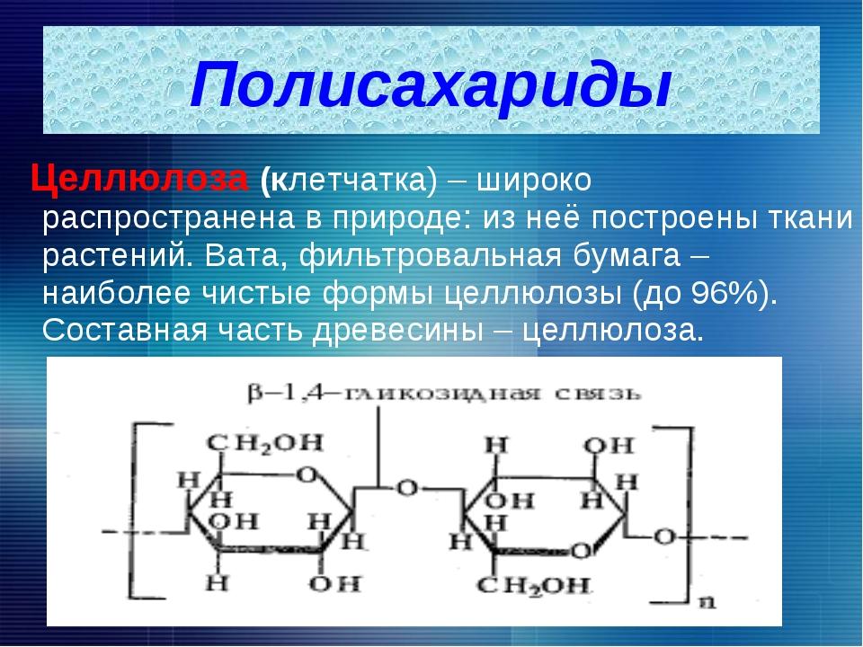 Целлюлоза (клетчатка) – широко распространена в природе: из неё построены тк...