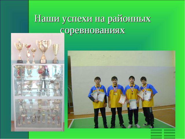Наши успехи на районных соревнованиях