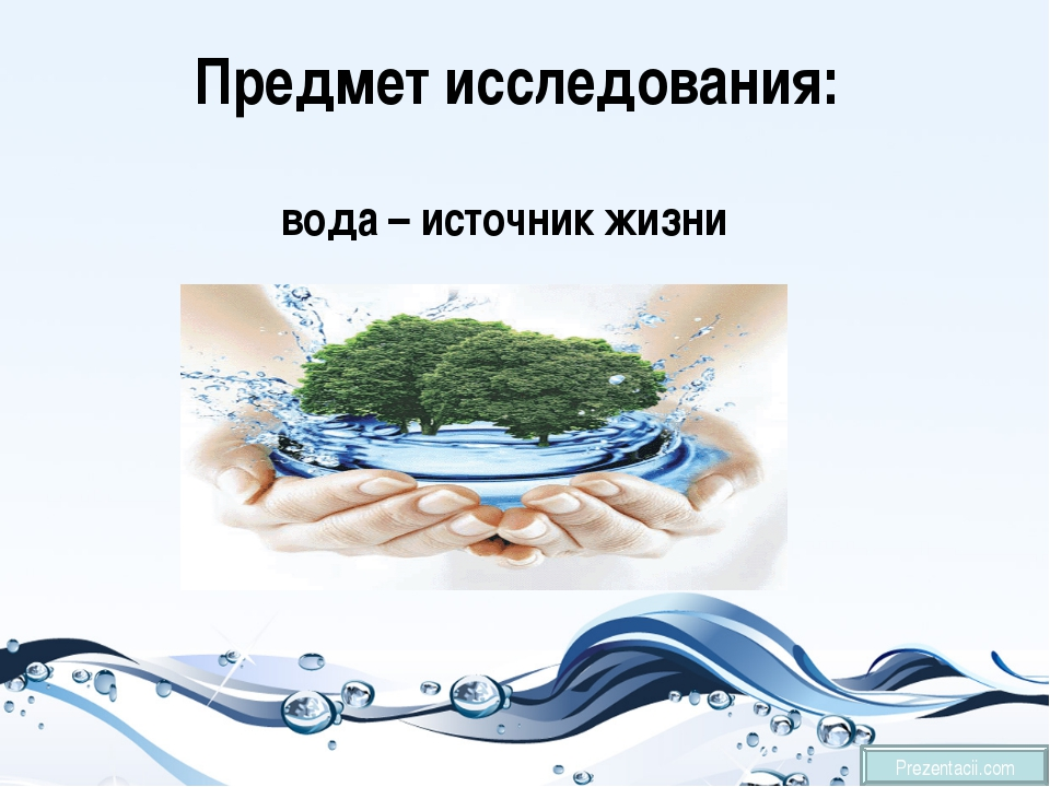 Предмет исследования: вода – источник жизни Prezentacii.com