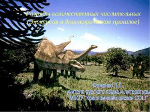 Разряды количественных числительных (Экскурсия в доисторическое прошлое)